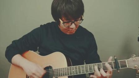 牛人吉他指弹灌篮高手主题曲《好想大声说爱你》