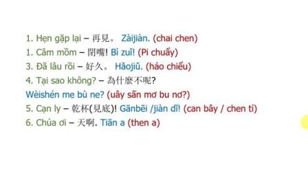 跟越南老师学标准越南语 之 外交篇 50句 50 Câu tiếng Trung giao tiếp SIÊU DỄ NHỚ