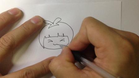 金龙手绘-简笔画人物.小女孩的画法3