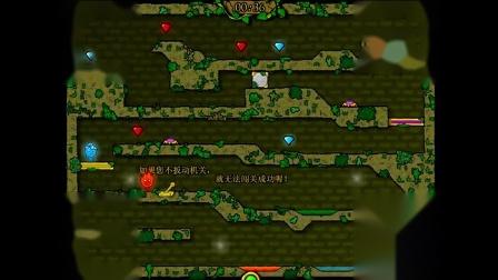 森林冰火人 火娃带冰娃勇闯森林圣殿游戏