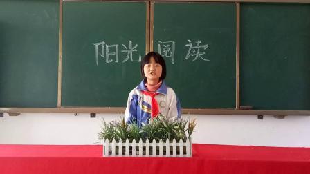苍溪县文昌镇白岩中心小学校—六年级—向婷《做一个快乐的读书人》