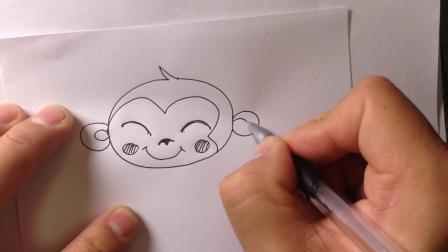 金龙手绘-简笔画小猴子的画法