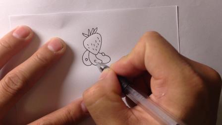 金龙手绘-简笔画.蛋糕的画法6