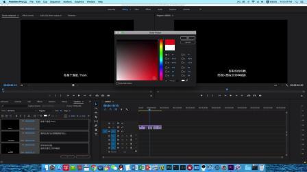 在Premiere里修改srt字幕的帧大小、帧速率、左中右对齐 - 20181012