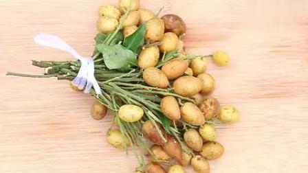 试吃一种广东水果,看着像黄葡萄,果肉像荔枝,吃着像柠檬和芒果