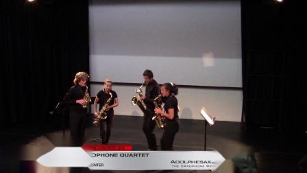 Suite sur des themes populaires Roumains by J. Absil (1st) - Antares Sax Quartet