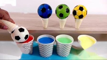 用冰激凌球为孩子学习颜色歌曲