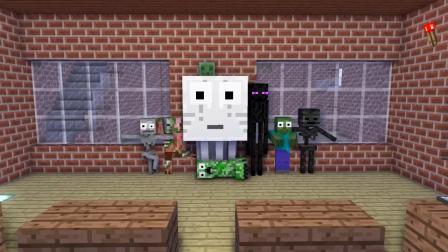 我的世界动画-毒液 vs 怪物学院-kudosXkiddos