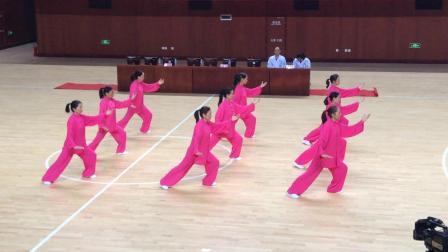 咸宁市第十四届中老年人太极拳剑比赛通城拳协队20181012
