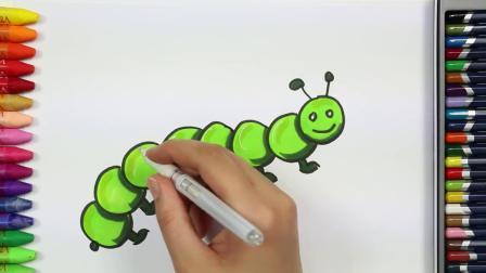 根本没想到可以把毛毛虫画的这么可爱 儿童学画画