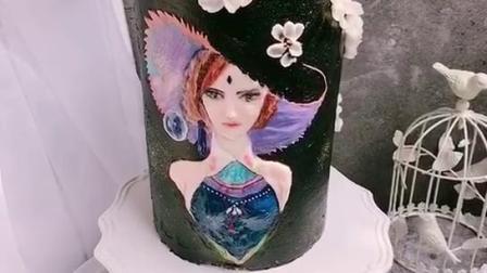 浮雕彩绘蛋糕天津私人甜品定制