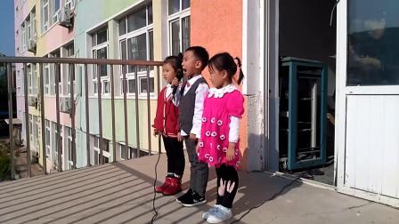 古塔区中心幼儿园大二班升旗仪式