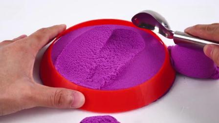 亲子早教动画 DIY彩虹太空沙七彩金字塔蛋糕学习颜色儿童玩具