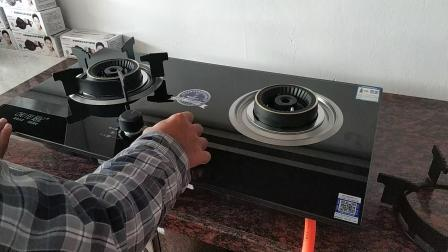 厨妃QB72嵌入式 上进风双灶 热电偶熄保 10厘高温防爆玻璃