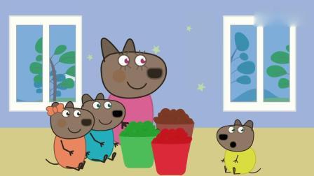 亲子早教动画 小熊一家卖了冰淇淋材料,制作冰淇淋叠叠乐!