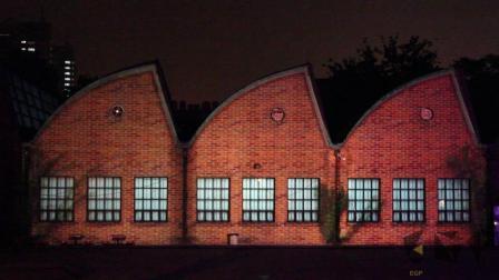 北京798建筑投影