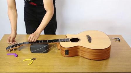 GEEK智能木吉他更换琴弦教学演示