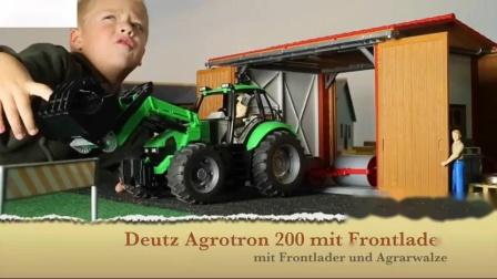 布鲁德约翰迪尔拖拉机为儿童汽油汽车吉普