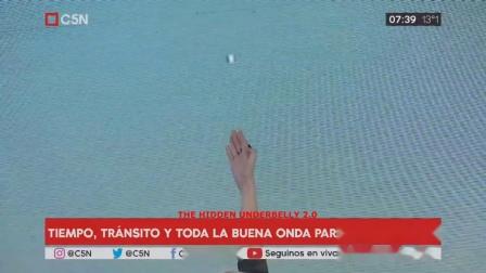 2018年10月10日金属UFO出现在早间新闻广播-阿根廷