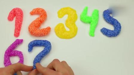 亲子早教动画 DIY玩具泥制作1-10数字趣味学习颜色