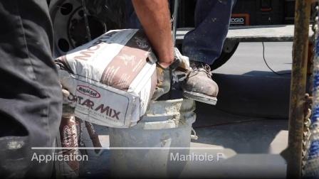 Rapid Set® Mortar Mix - Manhole Restoration - Professional Demo - Orange, CA