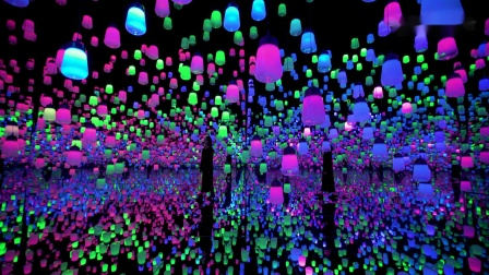 呼应灯森林——一笔, Metropolis/ Forest of Resonating Lamps - One Stroke, Metropolis