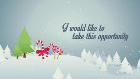 矢量图卡通风格圣诞节新年AE模板