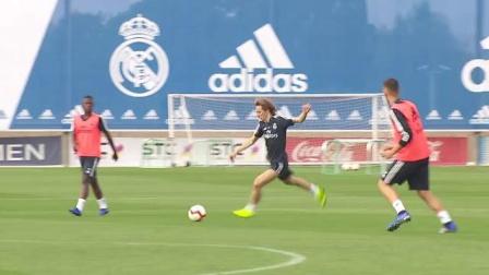 参加国际比赛日的球员们回到了皇马体育城进行训练