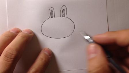 金龙手绘简笔画.卡通小兔子的画法