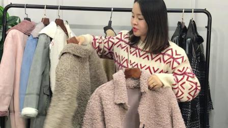 女士外套羊羔毛加厚大版女装