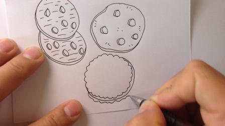 金龙手绘简笔画.饼干的画法2