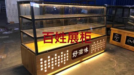 定做实木面包柜面包展示柜台糕点边柜小型桃酥蛋糕柜玻璃商用陈列