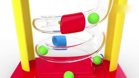 亲子早教动画 3D木锤和彩球玩具趣味学习彩球颜色