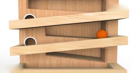 亲子早教动画 3D趣味玩木锤彩球游戏学习彩球颜色 儿童教育