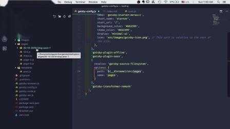 Gatsby.js 未来的网页06:加入Markdown
