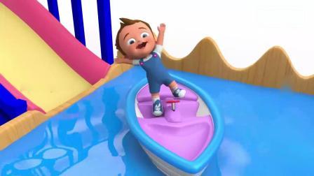 亲子早教动画 3D动画主题乐园婴儿趣味踢足球 学习颜色