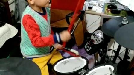 赵浩然(6岁)练习英国架子鼓考级三级1一6曲子