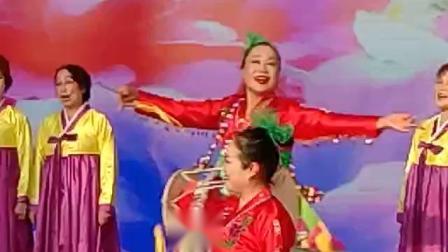 """2018年10月21日,中国文联,山东省宣传部,烟台市文联举办""""中国民间艺术博览会"""" 长白山艺术团演出朝鲜族歌舞《长鼓咚咚敲起来》"""