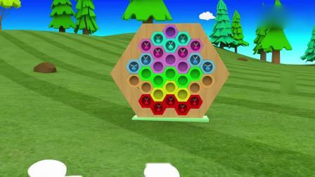 亲子早教动画 小蜜蜂按照颜色分类住进不同颜色的房间里,益智动画学颜色