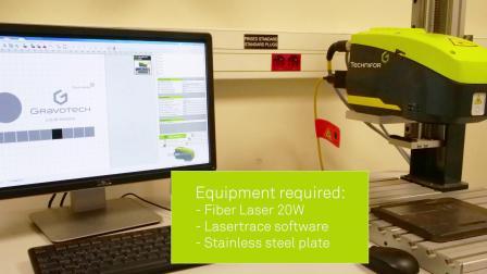 泰尼福光纤激光打标机-不锈钢铭牌彩色打标