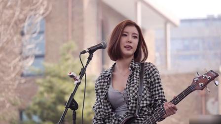 【韩国美女】【智仁】抖音霸屏的韩国 *e*op 贝斯手 表演