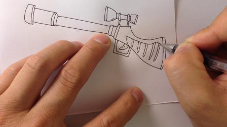 金龙手绘简笔画.玩具枪画法1