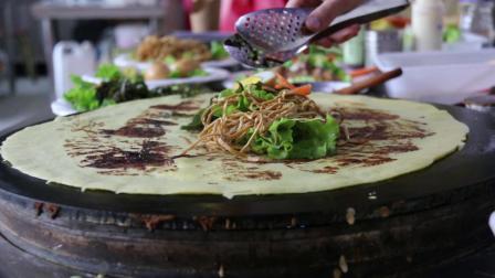 石家庄小吃培训手握五菜煎饼可以夹制各种卤菜制作技术