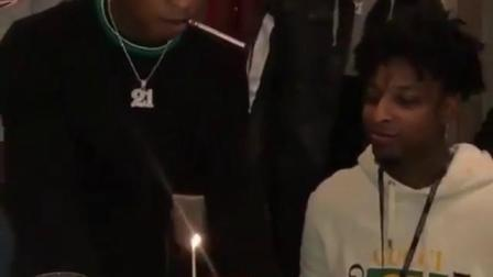 21 Savage Gets His Face Slammed Into Birthday Cake