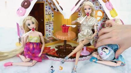 芭比娃娃的圣诞巧克力城堡