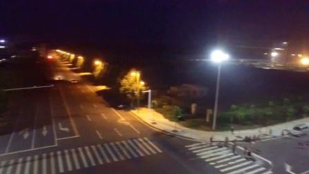 舞阳县舞北新区航拍夜景