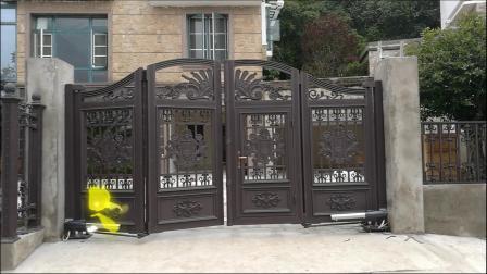 久瑞门业庭院别墅悬浮折叠门,悬浮门运行视频