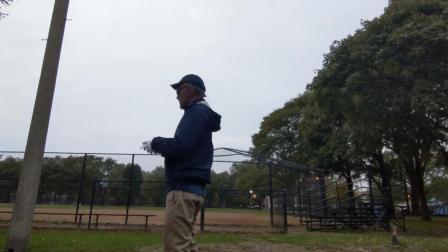 老头逛公园