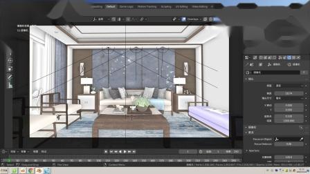blenderCN-实时室内渲染02-eevee渲染后期特效