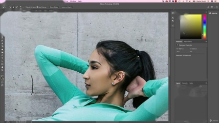 Photoshop CC 教程-人物剪切然后放入另一图片